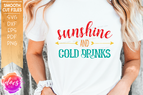 Sunshine and Cold Drinks - SVG File
