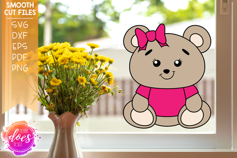 Teddy Bear Window Decals (Set of 4) - SVG Files