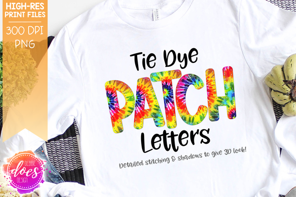 Tie Dye Patch Letters - Design Elements - Design Elements
