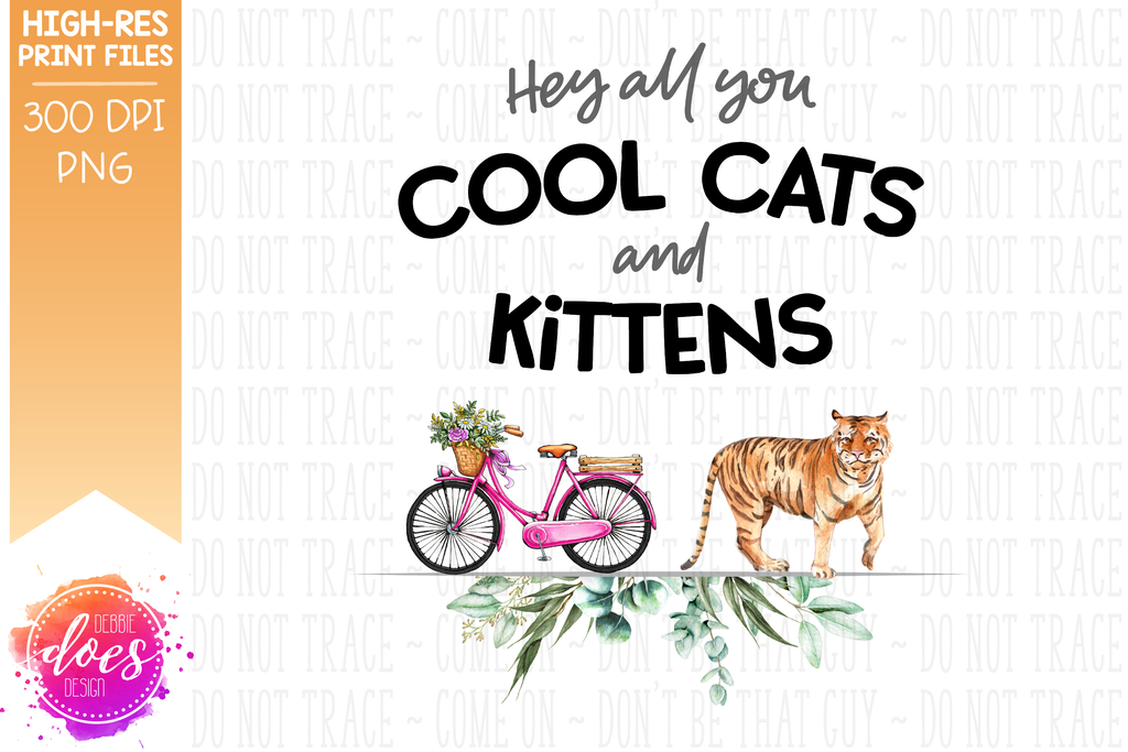 COOL CAT Sublimation is for t shirt png jpg file download