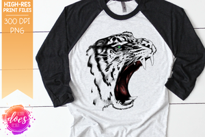 The Roaring Tiger - White - Sublimation/Printable Designs