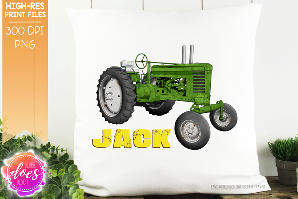 The Awesome Hand Drawn Tractor Bundle - 24 Variations! - Sublimation/Printable Designs