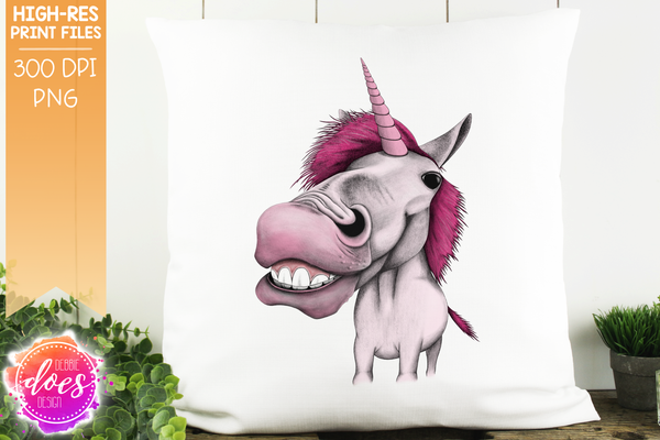 Unicorn - Pink - Sublimation/Printable Design