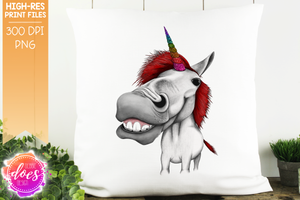 Unicorn - Red Rainbow Glitter - Sublimation/Printable Design