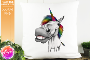Unicorn - White Rainbow Glitter - Sublimation/Printable Design