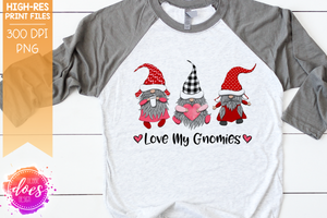 Love My Gnomies - Sublimation/Printable Design