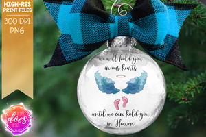 We Will Hold You In Our Hearts - Miscarriage Baby Loss Design - Sublimation/Printable Design