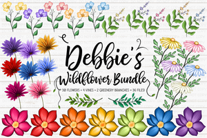 Debbie's Wildflower Bundle - Sublimation/Printable Design