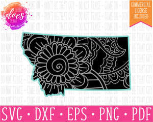 Paisley Mandala State - Montana  - SVG | Digital Cut Files | HTV Svg | Vinyl Decal Svg | Vinyl Stencil Svg