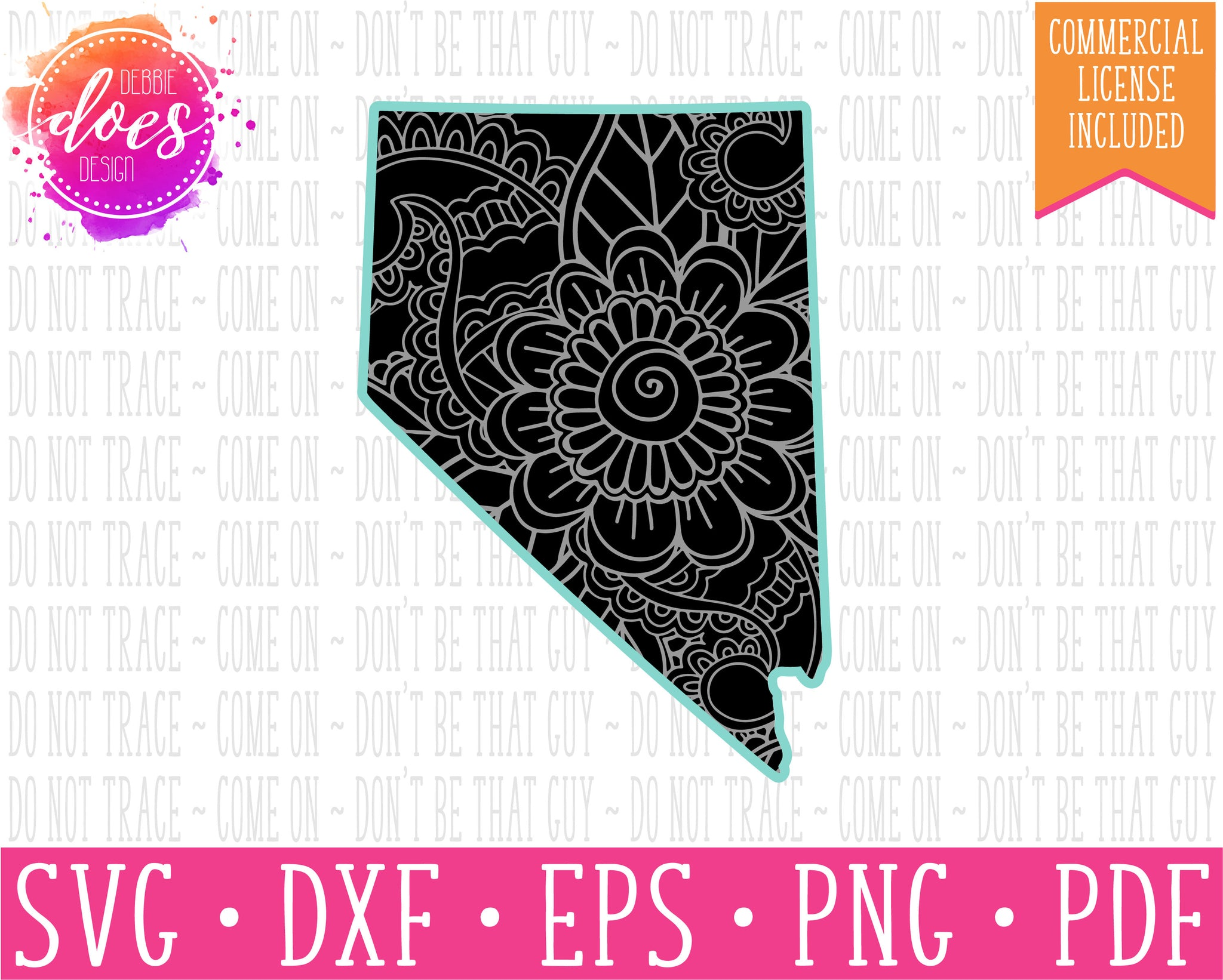 Paisley Mandala State - Nevada  - SVG | Digital Cut Files | HTV Svg | Vinyl Decal Svg | Vinyl Stencil Svg