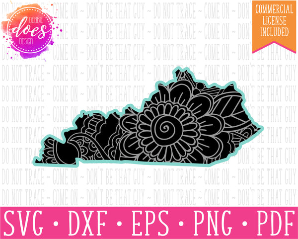Paisley Mandala State - Kentucky  - SVG | Digital Cut Files | HTV Svg | Vinyl Decal Svg | Vinyl Stencil Svg