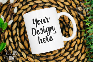 White 11oz Mug Mockup | White Mug Mock-Up | Blank Mock Up Photo Download