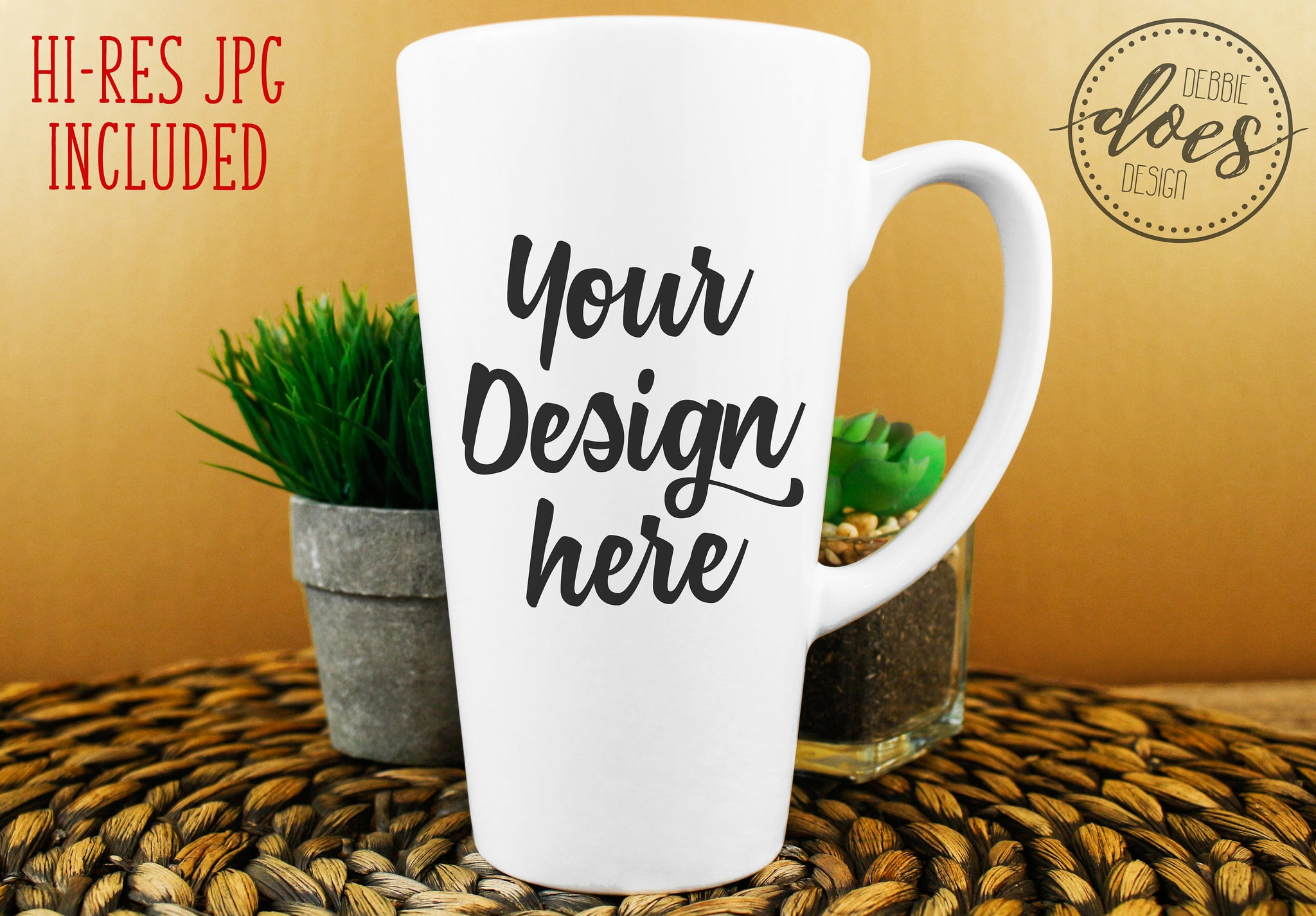 White Latte Mug Mockup | White Mug Mock-Up | Blank Mock Up Photo Download
