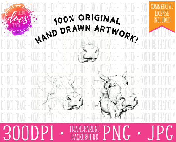 I Licked It So It's Mine - Hand Drawn Cow Print | Instant Download | Sublimation | Printable | PNG | JPG