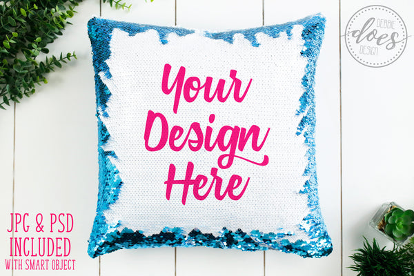Ultimate Sequin Pillow Mockup Bundle | Sequin Pillow Mock-Up | Blank Mock Up Photo Download