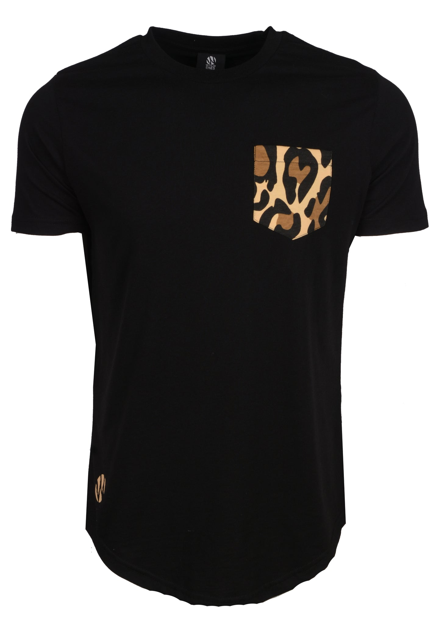 WyldOnes Animal Facts Elongated T-Shirt- WO401 - Leopard