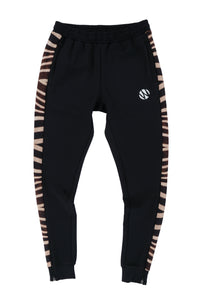 WyldOnes Side Animal Print Track Pants- WO201- Zebra