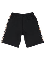 Load image into Gallery viewer, WyldOnes Side Animal Print Track Shorts- WO101- Leopard