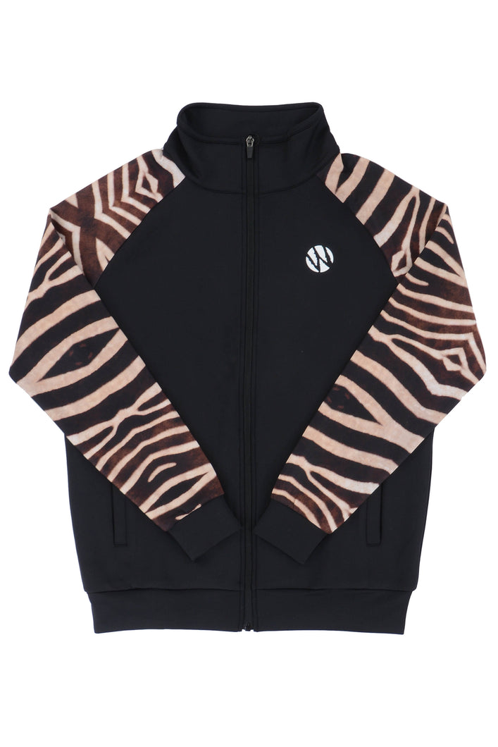 WyldOnes Animal Sleeve Print Track Jacket- WO501 - Zebra