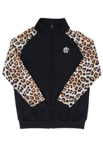 Load image into Gallery viewer, WyldOnes Animal Sleeve Print Track Jacket- WO501 - Leopard
