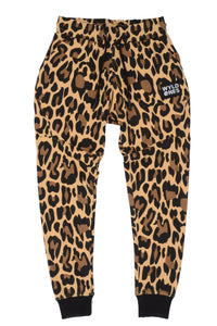 WyldOnes Animal Print French Terry Joggers- WO202- Leopard
