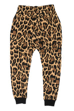 Load image into Gallery viewer, WyldOnes Animal Print French Terry Joggers- WO202- Leopard