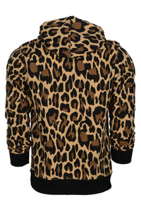 WyldOnes Animal Print French Terry Hoodie- WO502 - Leopard