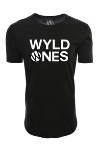 WyldOnes Logo Elongated T-Shirt- WO402- Black