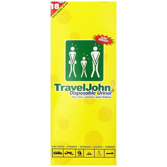 Travel John Disposable Urinal 18 pack