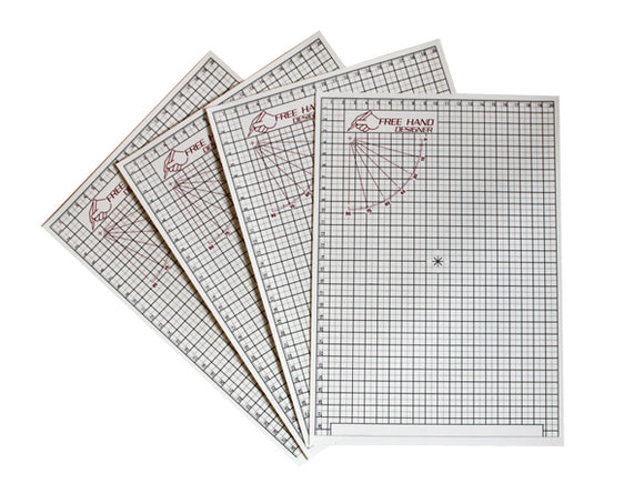 Free Hand Drawing Grid - Fits A5 (5.83