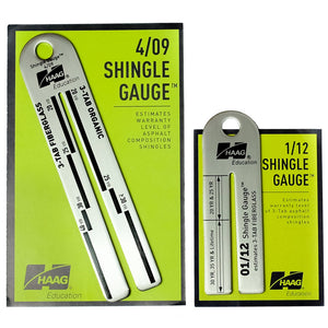 Haag Shingle Gauge - 4/09, 1/12, or both!