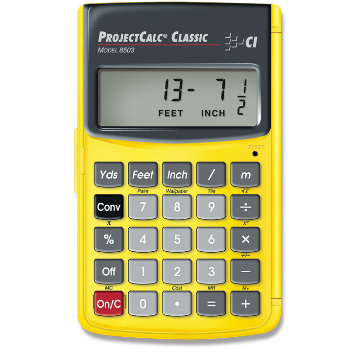 Feet / Inch / Fraction Calculator - Calculated Industries ...