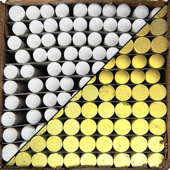 Box of Chalk - 100 Count (Choice of White/Yellow)