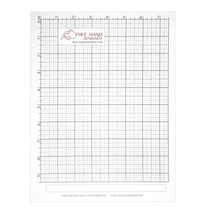 "Free Hand Drawing Grid - Fits Standard US Letter (8.5"" × 11"") or A4 Paper"