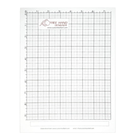 Free Hand Drawing Grid - Fits Standard US Letter (8.5