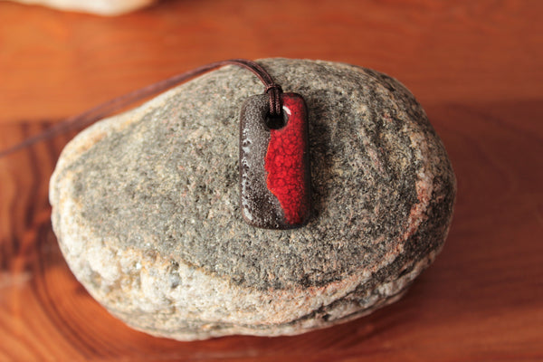Red Ceramic Pendant for Men