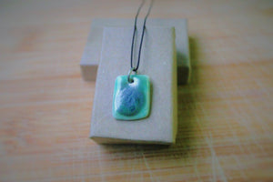 Soft Blue Porcelain Pendant