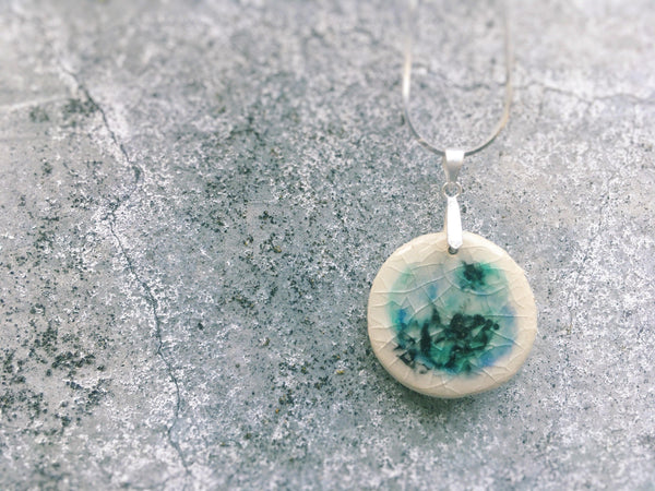 Soft Blue Ceramic Pendant