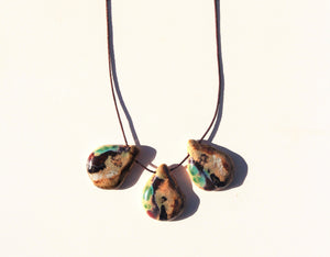 three drops statement ceramic necklace