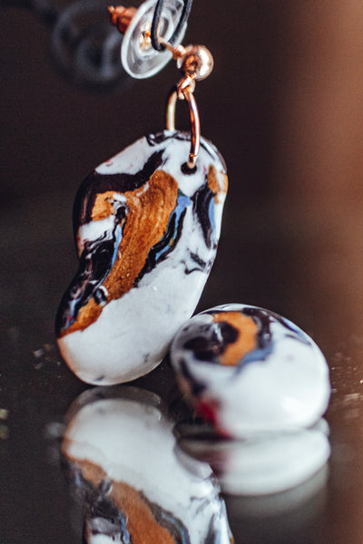 Porcelain colorful earrings