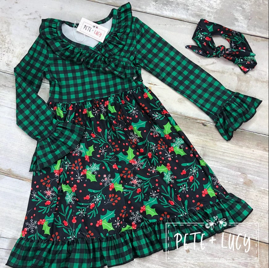 NEW! Christmas Wrap Dress