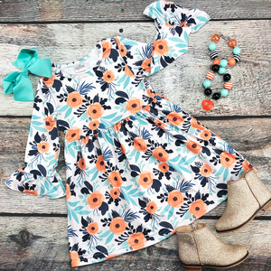 NEW! Long Sleeve Floral Dress