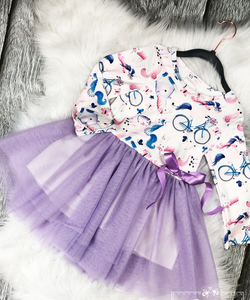 Unicorn Winter Tutu Dress