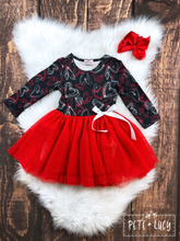 Load image into Gallery viewer, Long Sleeve Heart Tutu Dress