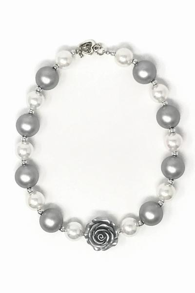Bubblegum Necklace - Platinum & Pearl