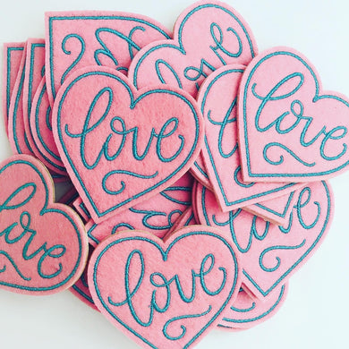 Love Felt Sticker Patch