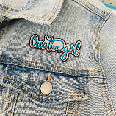 Creative Girl Embroidered Iron on Patch