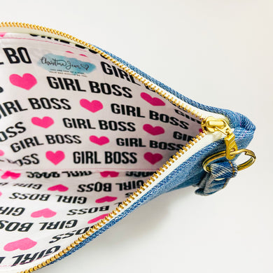 Girl Boss Denim Pouch/Wrislet