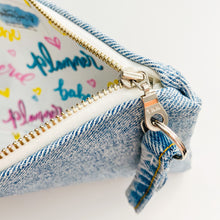 Load image into Gallery viewer, Planner Girl/Babe/Nerd Denim Pouch