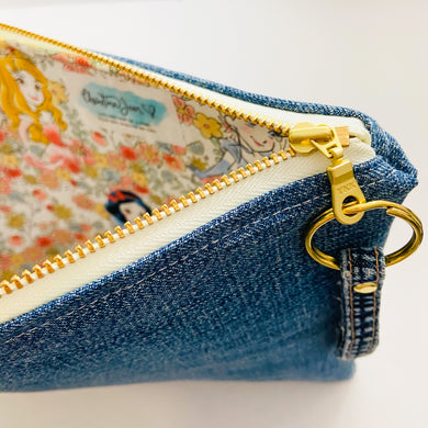 Princesses & Flowers Denim Pouch